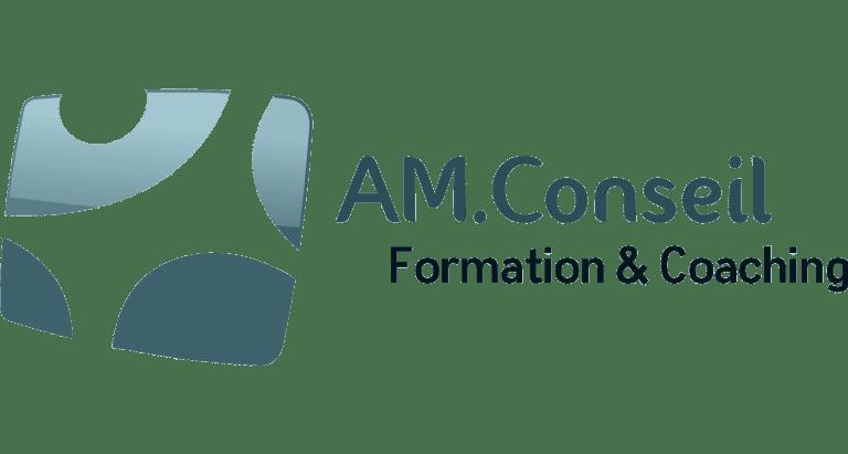 logo AM.Conseil Formation et Coaching bords blancs