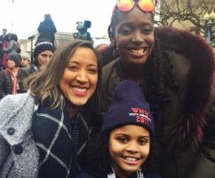 Franchesca Ramsey with Robin Thede from The Nightly Show and Lil Miss Flint.