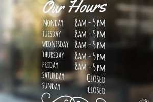 Hours of Operations Simple