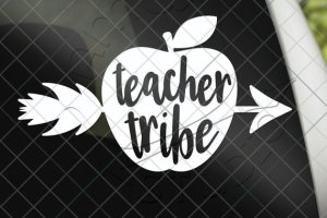 Teacher Tribe Apple Vinyl