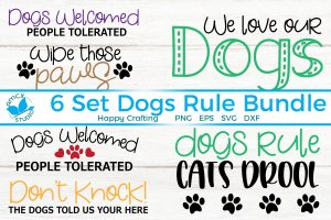 Dogs Rule Bundle 6 designs