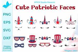 Cute Patriotic Faces Bundle