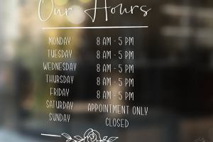 Hour of Operations for Store Front, Our Business Hours