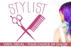 Stylist Vinyl Decal – Salon Decal – Salon Gifts – Gifts for Hair Techs
