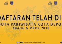 Pendaftaran Pemilihan Duta Pariwisata Kota Depok Abang & Mpok 2018