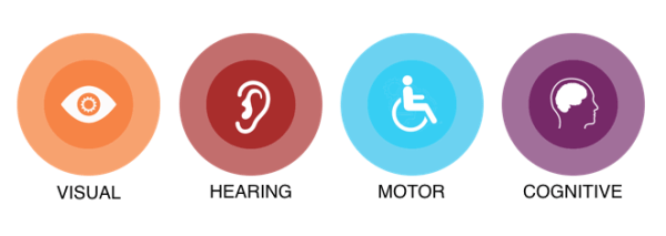 the 4 common disabilities infographic