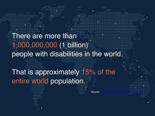 more than 1 billion people worldwide with disabilities infographic