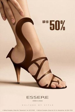 commercial for shoe sale with 'esser'.