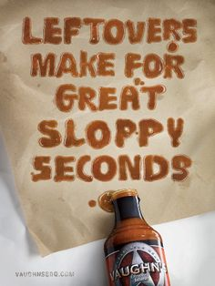 commercial for sloppy joe sauce by 'vaughn's'.