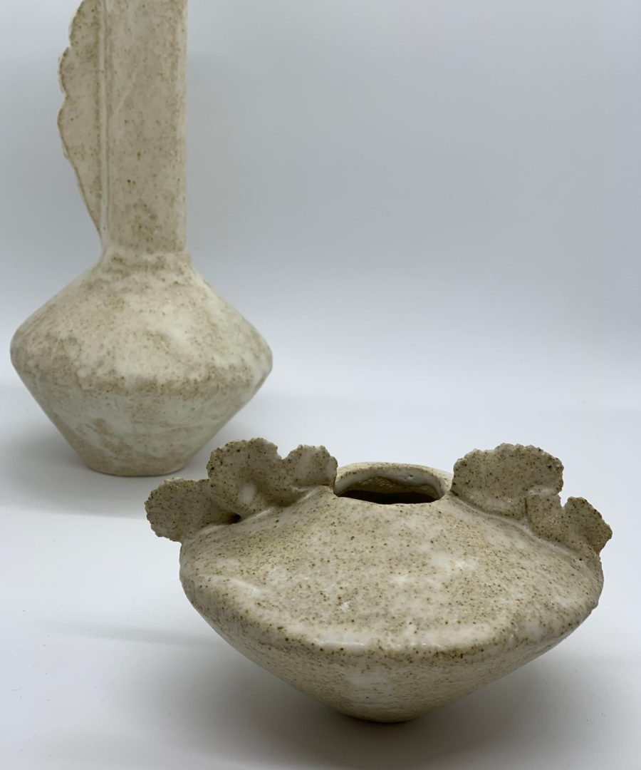 vase lucv asterisque ame bordeaux céramique