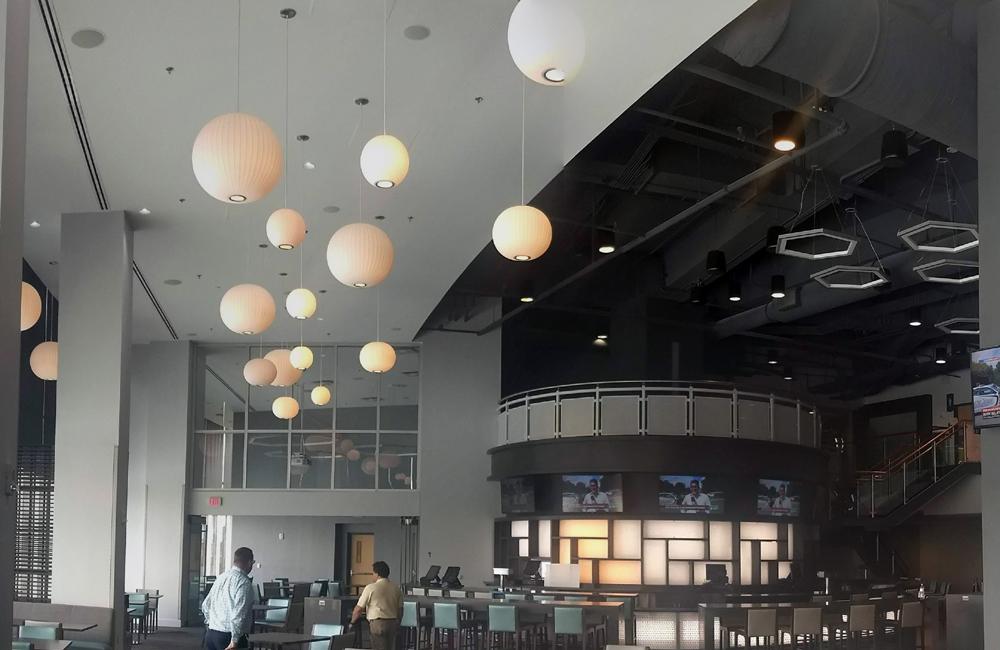 Unique ceiling lighting