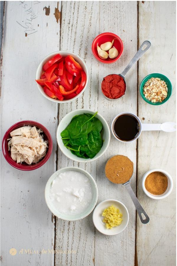 ingredients for red thai curry ramen 2 ways