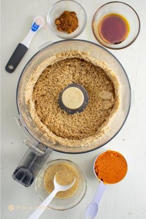 gluten-free pumpkin cookie dough ingredients