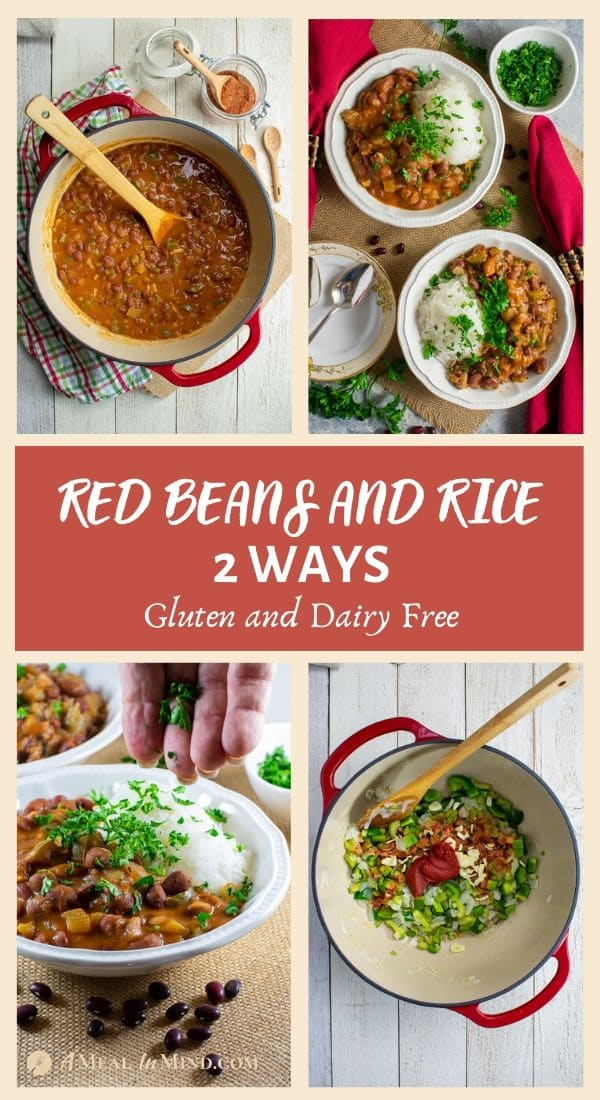 delicious red bean and rice 2 ways tall 4 image pinterest collage