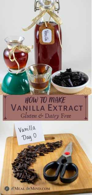 results and ingredients for making vanilla extract
