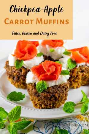 Chickpea-Apple Carrot Muffins pinterest image