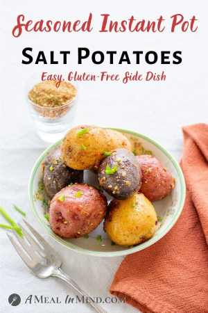 Instant Pot Seasoned Salt Potatoes pinterest image
