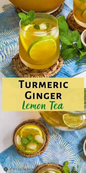 Turmeric-Ginger Lemon Tea tall pinterest collage