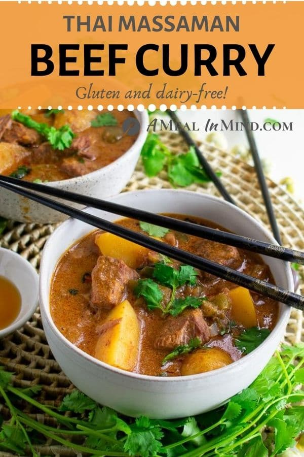 Thai Massaman Curry with Beef and Potatoes pinterest image