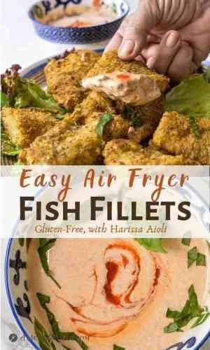 air fryer fish fillets pinterest collage