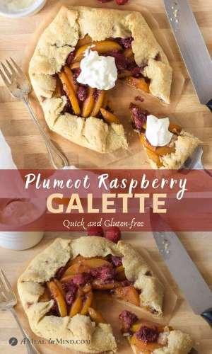 Gluten-Free Plumcot-Raspberry Galette 2 image pinterest collage