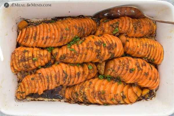 southwestern sweet potatoes after roasting