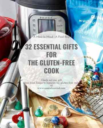 Gifts for the gluten-free cook in a display