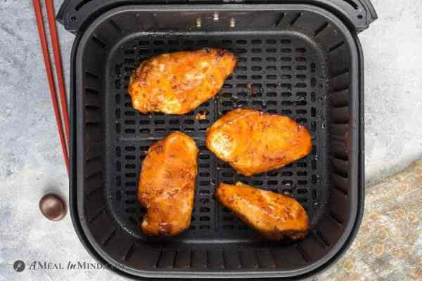 teriyaki chicken breasts finished in air fryer