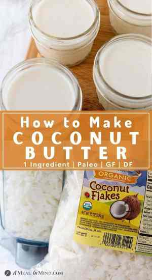pinterest collage of making coconut butter