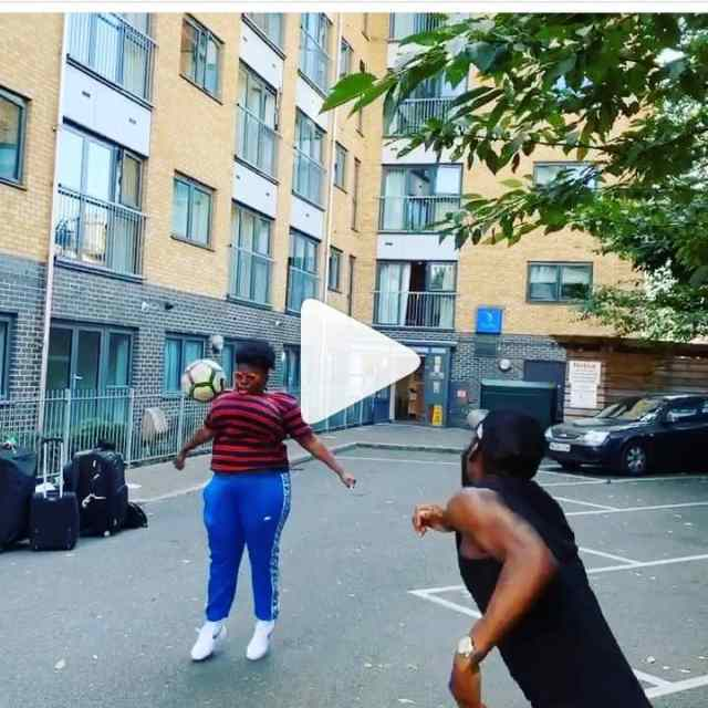 Fans Hail Singer, Teni, For Juggling Football With Her Chest (Photos)