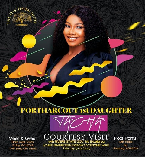 Tacha's Fans Release Titans Anthem As They Welcome Her In Port Harcourt