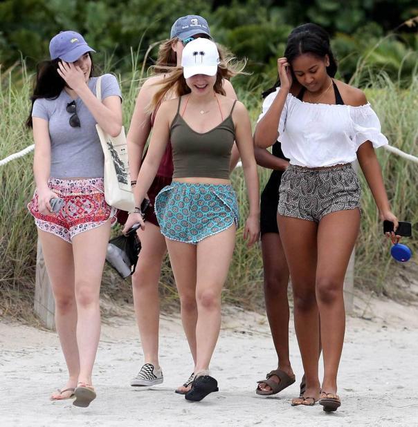 Sasha Obama Slays In Tiny Bikini Top While On Vacation In Miami