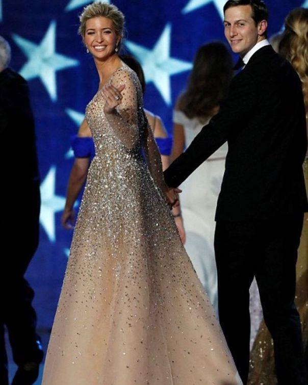 Ivanka Trump's Stunning Champagne Carolina Herrera Inaugural Ball Gown