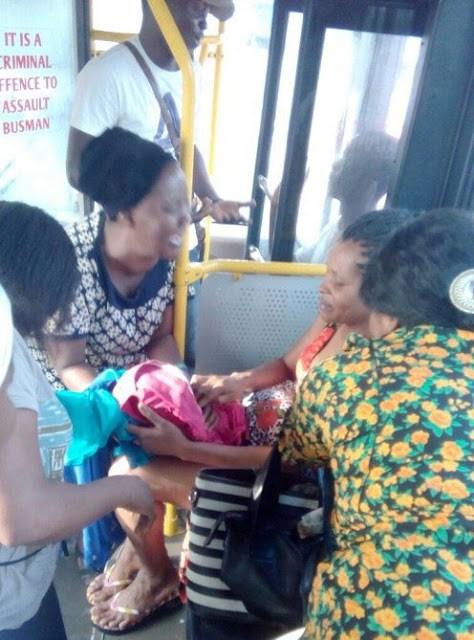 Woman Delivers Baby Boy Inside BRT Bus In Lagos