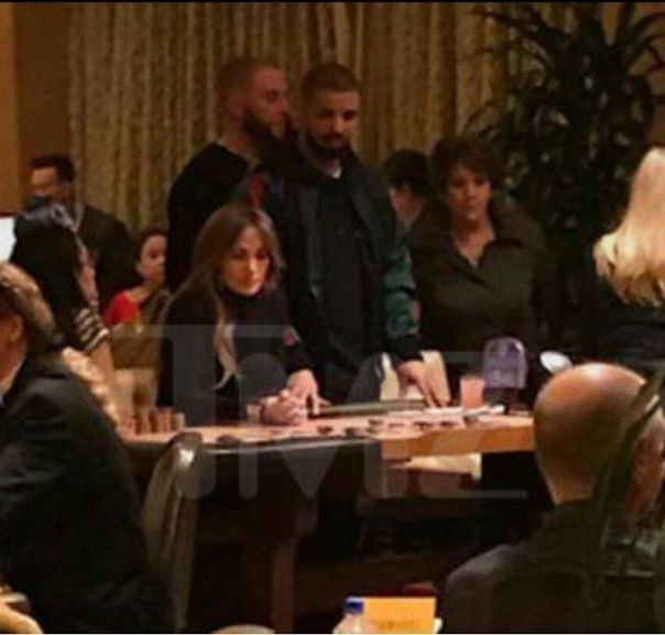Drake And Jennifer Lopez Spotted Gambling Together In Las Vegas On New Year's Day