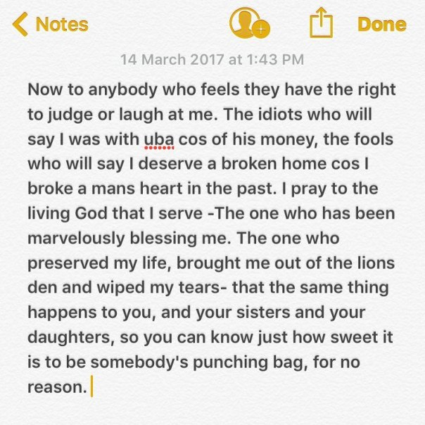 Patoranking's Record Label Owner Fuston Allegedly Beats Up Wife Till She Bleeds But She Quickly Calls Him Out After He Went On Instagram To Share Motivational Quote