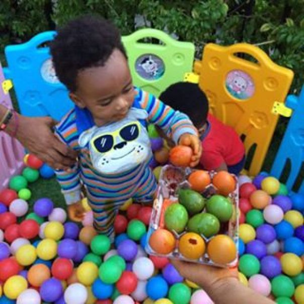 Tonto Dikeh And Her Son Making Easter Eggs 1