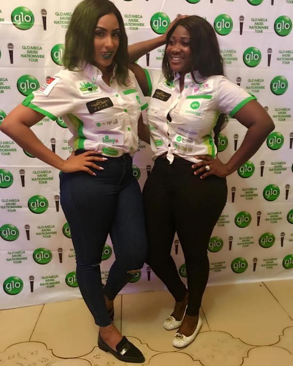 Mercy Johnson And Juliet Ibrahim At Glo Mega Music Tour Owerri 1