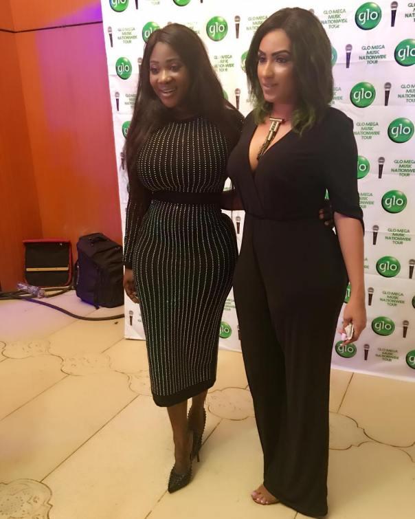 Mercy Johnson And Juliet Ibrahim At Glo Mega Music Tour Owerri 2