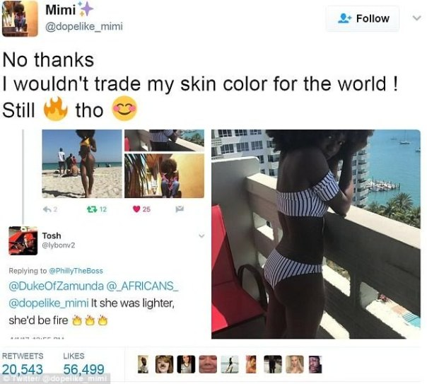 Cameroonian Mimi Mbah The Black Teen Who Came Under Racist Attack From Twitter User