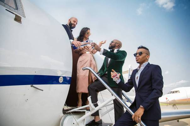 Banky W And Tekno Chilling On Private (2)