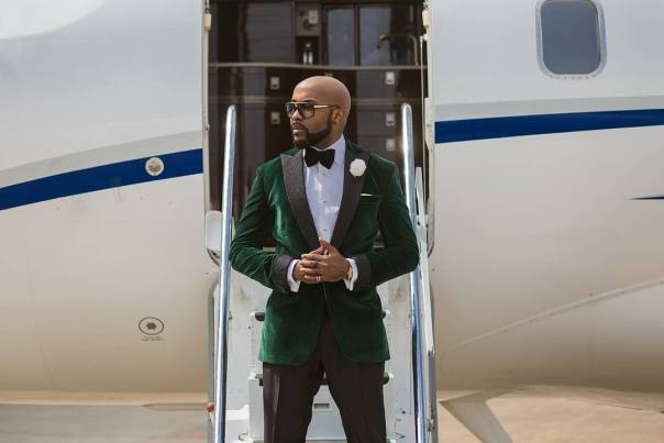 Banky W On Private Jet