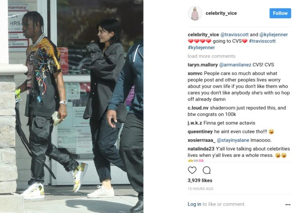 Fan Viciously Disses Kylie Jenner And Boyfriend Travis Scott On Instagram And Tyga Liked It