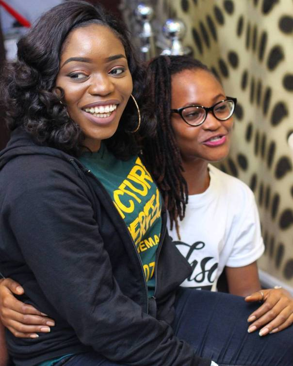 Bisola Aiyeola And Marvis Nkpornwi Were Pictured Together At The Cinema (2)
