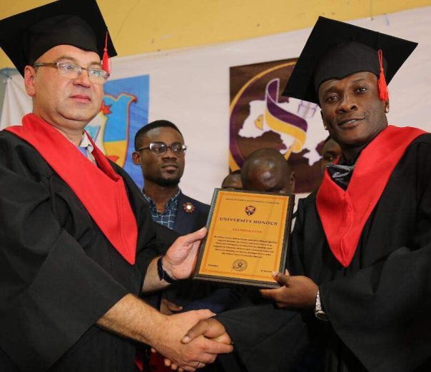 Asamoah Gyan Bags Doctorate Degree From Ukrainian University