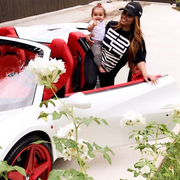 Blac Chyna Shows Off Her New 2017 Ferrari 488 Spider With Forgiato Wheels (3)