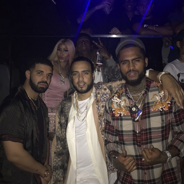 Nicki Minaj Was Pictured Partying Hard With Drake In Sexy Lace-Up Corset (2)