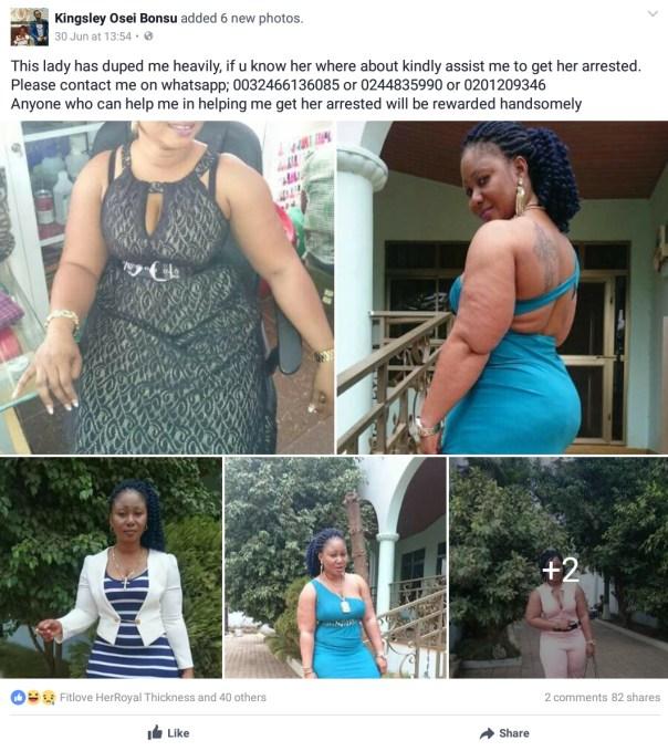 Europe-Based Man Kingsley Osei Bonsu Was Swindled By Facebook Lover On Arrival In Ghana (2)