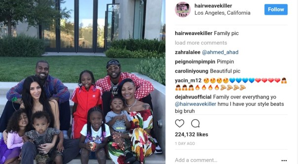 Kim Kardashian And Kanye West Fun Family Photo Alongside 2Chainz (1)