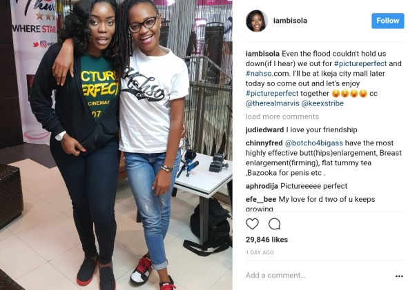 Bisola Aiyeola And Marvis Nkpornwi Were Pictured Together At The Cinema (1)